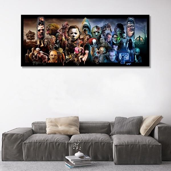 2020 decoración del hogar moda lienzo de Terror Impresión de película de Terror carteles de pared para la decoración del hogar pintura para sala de estar dormitorio