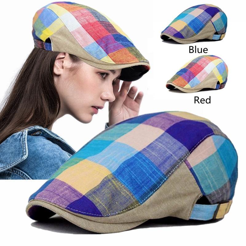 Classic Super Summer Duckbill Visor Golf Driving Cabbie Grid Gatsby Cap Beauty Newsboy Beret Hat For Artist Ivy Hip Hop Unisex