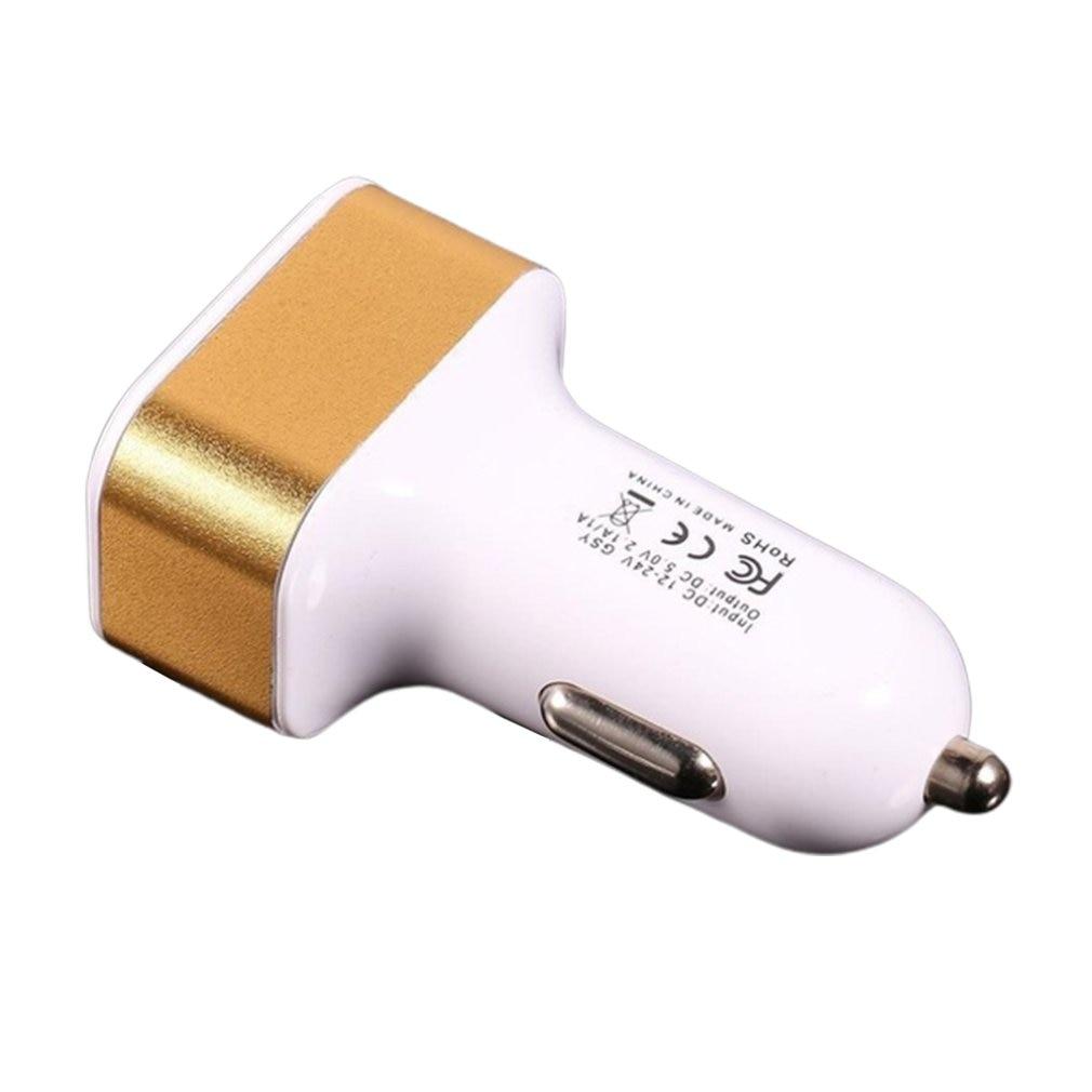 Cargador de coche móvil Dual USB Mini bala cargador de coche 3Usb cargador de coche 3 puertos 5,1 A Adaptador de coche de alta capacidad para teléfono móvil
