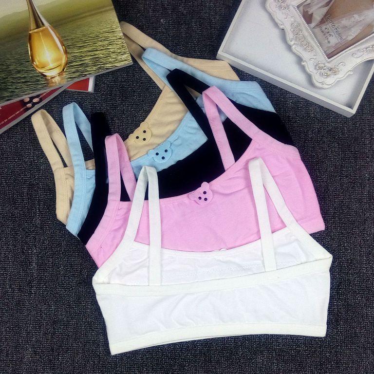 Girls Bras Teenage Underwear Kids Training Bras Underwear Students Teens Bra Vest Summer Children Te