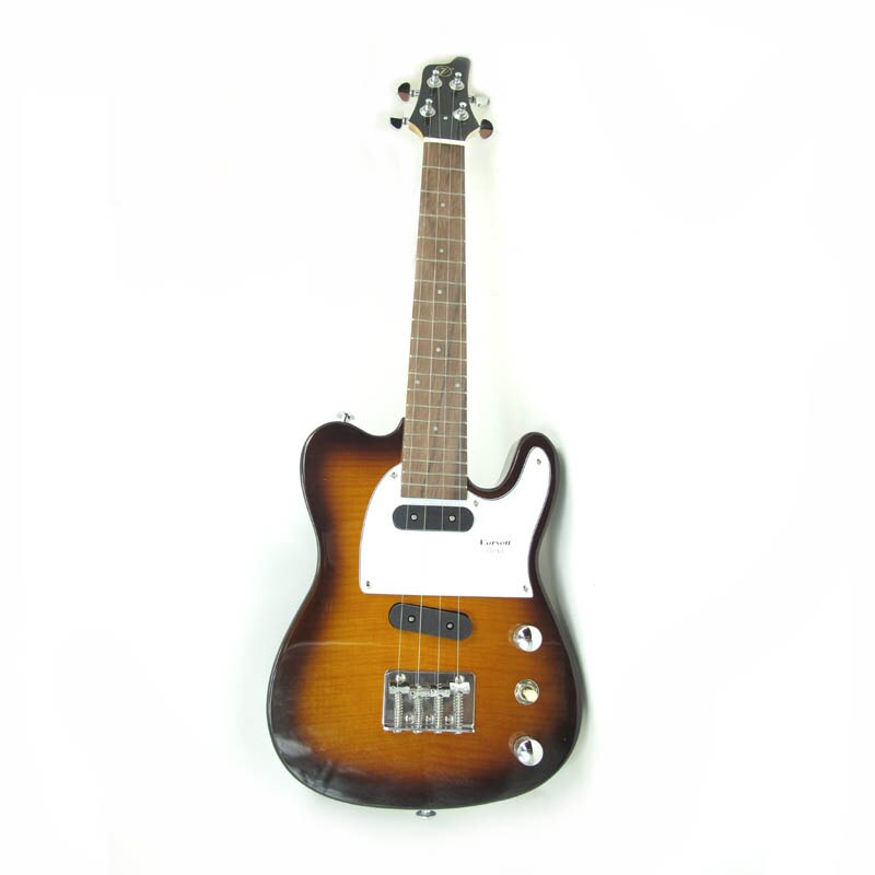 MÁS Color Tele Tenor Ukelele eléctrico 26 pulgadas sólido Mini Guitarra hawaiana 4 cuerdas de acero Ukelele Guitarra guitarrista