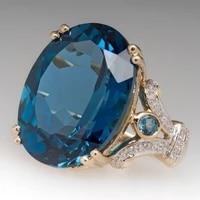 fashion hot sale engagement proposal goose egg rhinestone ring