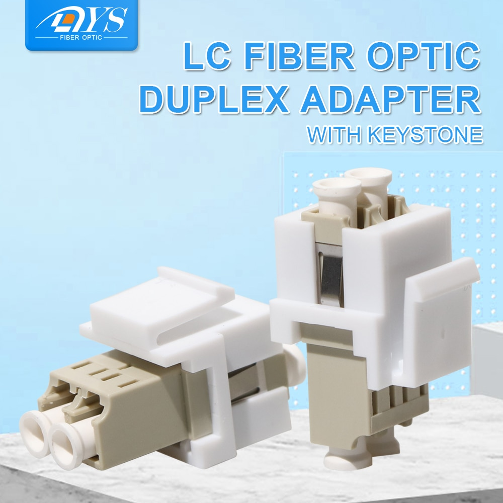 50pcs Multi-Mode Duplex LC Optic Fiber Adapter LC Fiber Optic Coupler Without Flange with Keystone lc lc dx sm fiber adapter connector duplex lc upc flange connector ftth fiber optic adapter