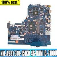 NM-A981 Laptop motherboard For Lenovo 310-15IKB original mainboard 4G-RAM I3-7100U GT920MX