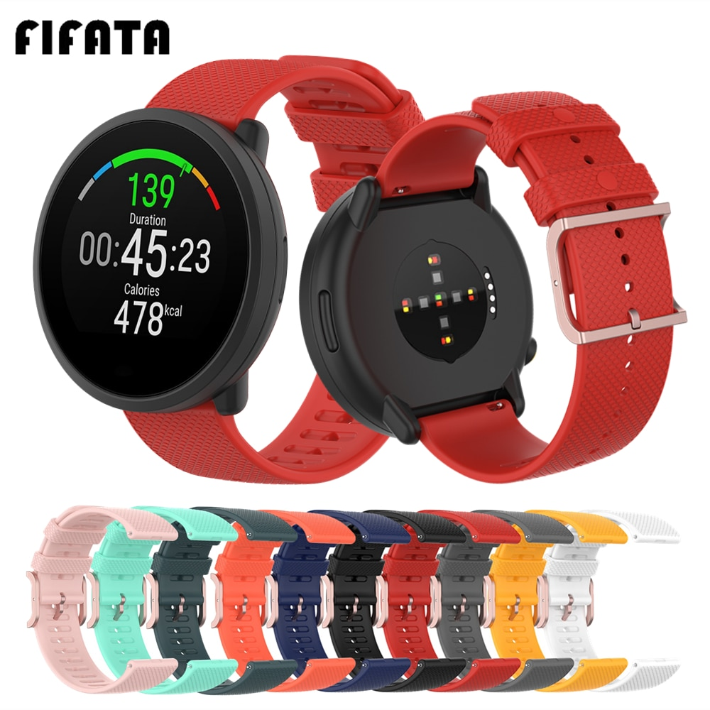 FIFATA Sport Silicone Band For Polar Unite Smart Watch Strap For Polar Vantage M / GritX / ignite Wristband Bracelet Accessories