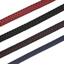 1M 8mm microfibre large plat tressé en cuir corde corde noire pour Bracelet à bricoler soi-même bijoux artisanat fabrication de résultats accessoires