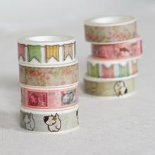 New Printing Washi Tape Office Adhesive Scrapbooking Tools Kawaii Decorative Great Christmas Cute Craft Gift Banner