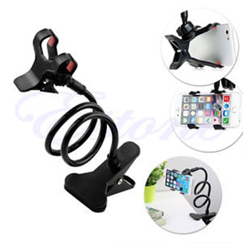Universal caliente perezoso cama escritorio montaje soporte de coche soporte para teléfono celular brazo largo