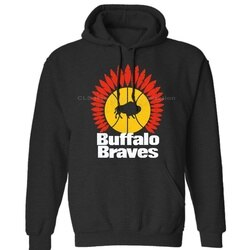 Búfalo Braves, Retro, 1970s, Basquete, Franquia, Western New York, NY, mens Neutro Inverno Hoodies Moletons Frete Grátis