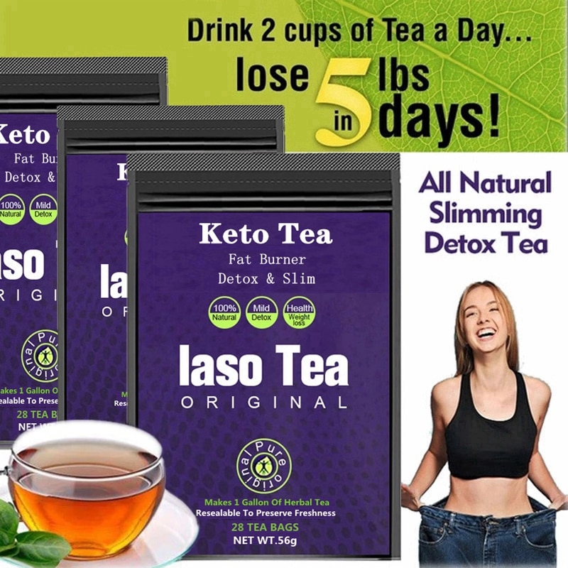 100% Keto Laso Tea Slimming Detox Tea Original Weight Loss Product Cleanse Reduce Bloating and Const