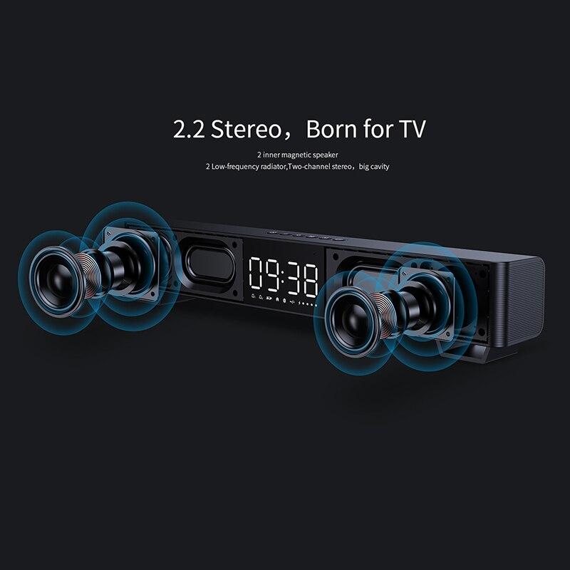 Bluetooth Speaker 2 Stereo Sound Big Digital Display Wireless Bluetooth 5.0 Support TWS soundbar  altavoz bluetooth enlarge