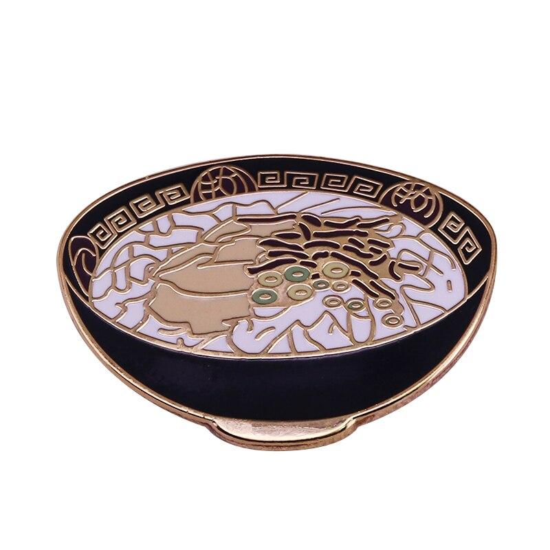 Lindo ramen tigela broche engraçado macarrão amantes foodie jóias