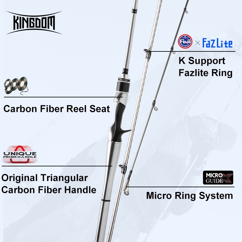 Kingdom Silver Needle II Carbon Fishing Rods Spinning And Casting FUJI Accessories Feeder Rod UL L ML L MH Lure Fishing Tackles enlarge
