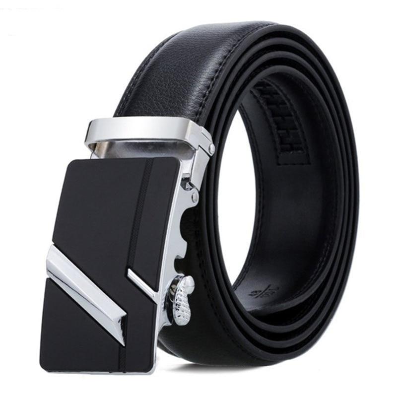 Men Belt Male Belts For Men Strap Quality Genuine Leather Belt Men Automatic Buckle black Belts Cumm