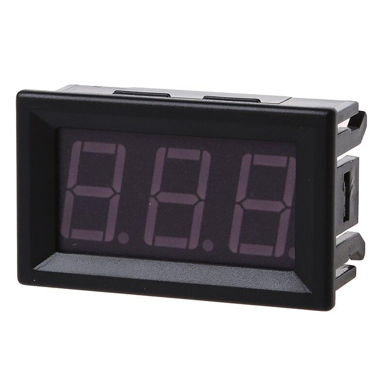 Venta caliente DC 0-99,9 V 3 alambre LED Panel de pantalla Digital voltímetro de voltaje Motor de coche- verde