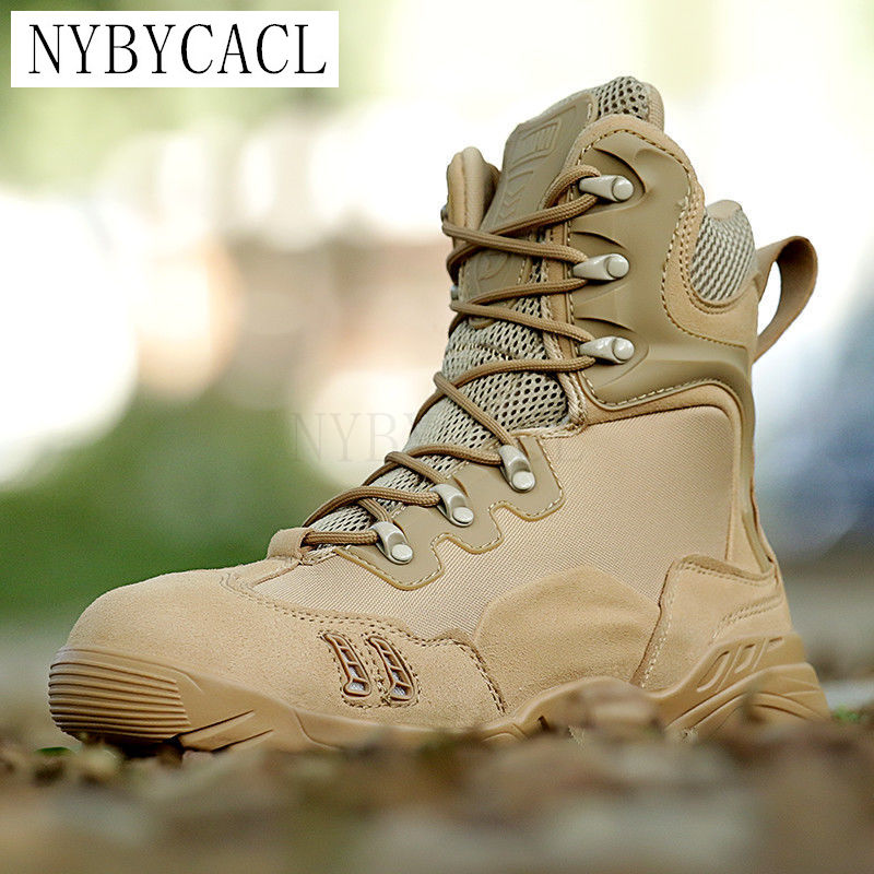 Winter Men Military Boots Leather Special Force Desert Tactical Combat Army Boots Men's Safty Work Shoes ankle boots designer men winter military boots male snow fur combat ankle boots waterproof army rain shoes chaussure homme