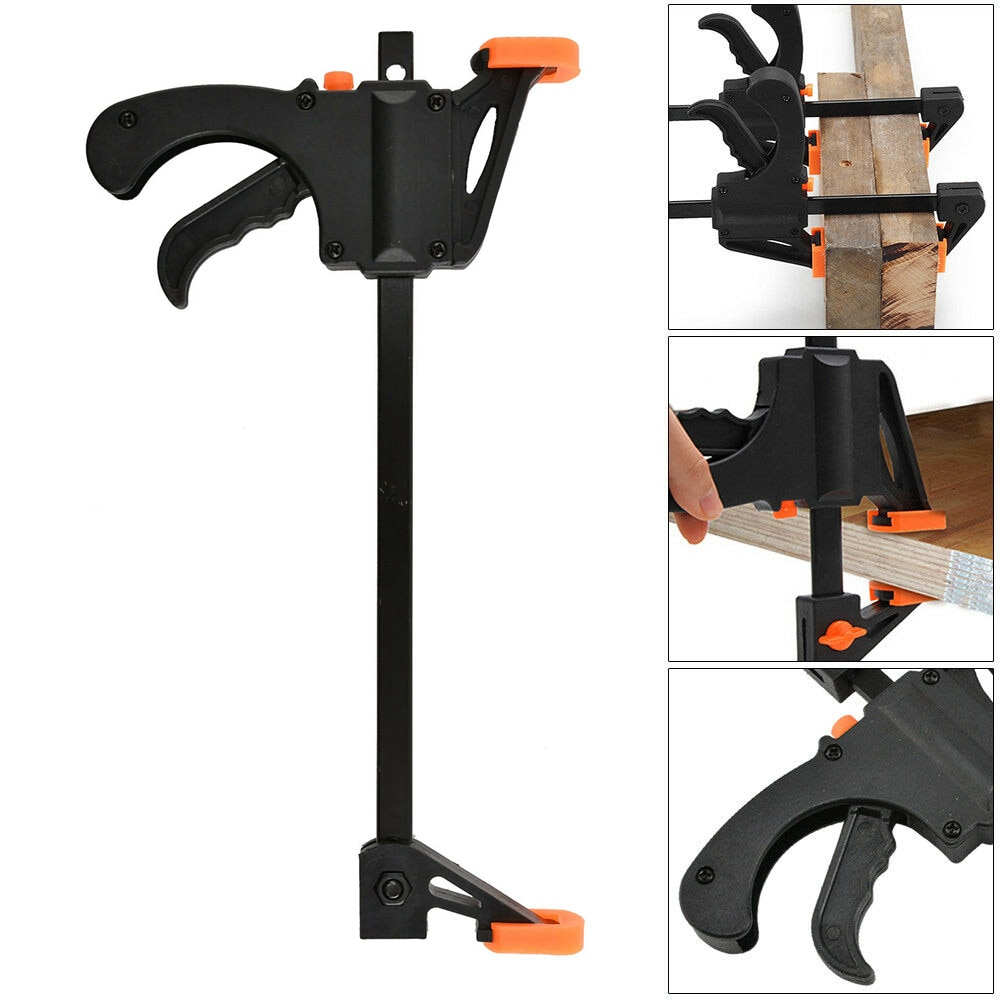 5pcs Spreader Work Bar Clamp F Gadget Tool DIY Hand Speed Squeeze Quick Ratchet Release Clip Kit Wood Working
