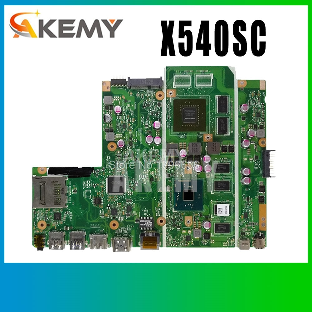 اللوحة الام X540SC 2GB/N3050 ل ASUS X540S X540SC اللوحة الام للابتوب X540SC اللوحة الام X540SC اختبار 100% ok