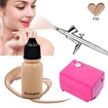 Airbrush Kompressor Natürliche Make-Up Kosmetik Concealer Flüssigkeit Make-Up Foundation Make-Up Kit DIY Körper Malen Gesicht Schönheit Werkzeug