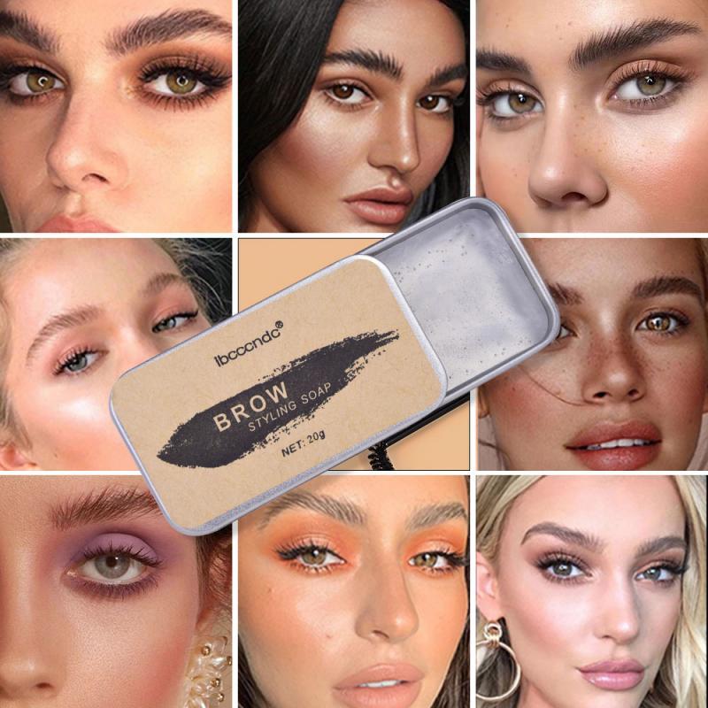 3D Natural Wild Brows Wax Waterproof Soap Brows Long Lasting Eyebrow Cream Tattoo Dye Tint Pen Eyebrow Enhancer Makeup Gel TSLM1 недорого