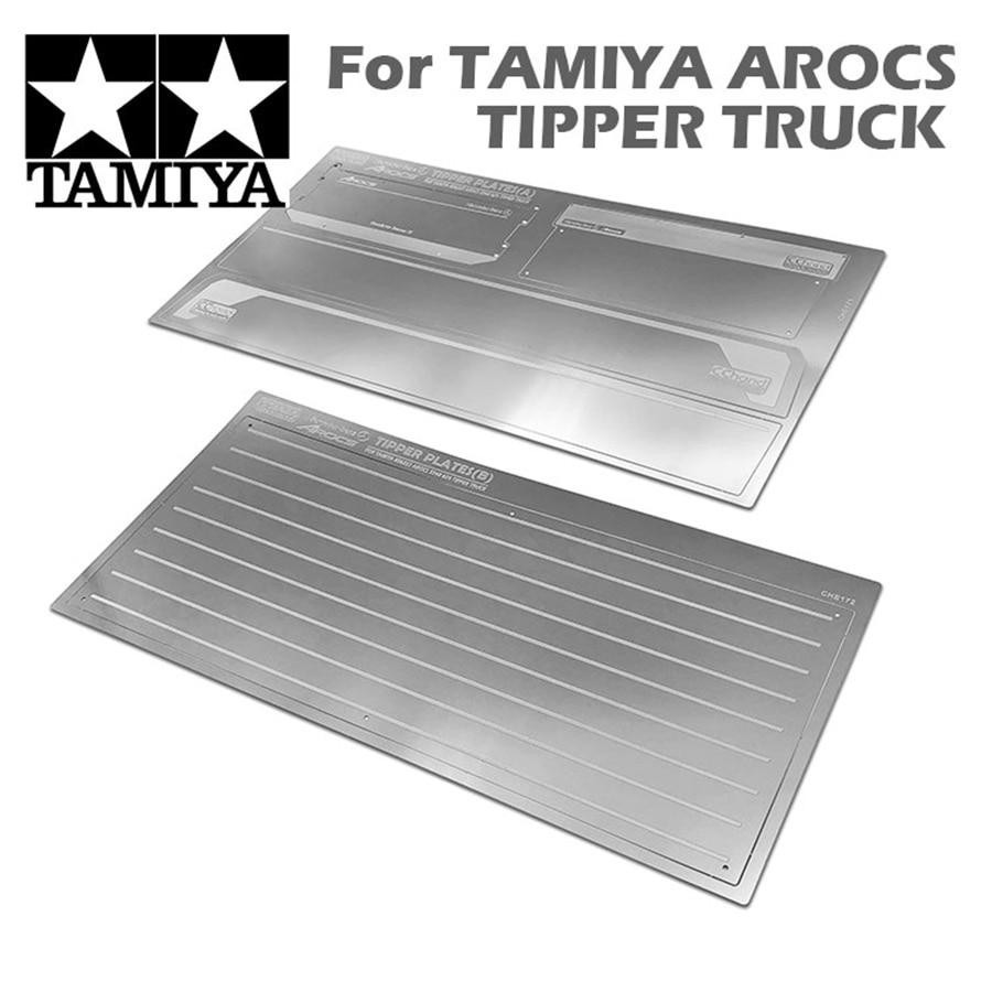 Tamiya arocs caminhões balde de metal basculante placa para 1/14 rc brinquedo modelo carros tamiya benzz meiller engenharia caminhão basculante