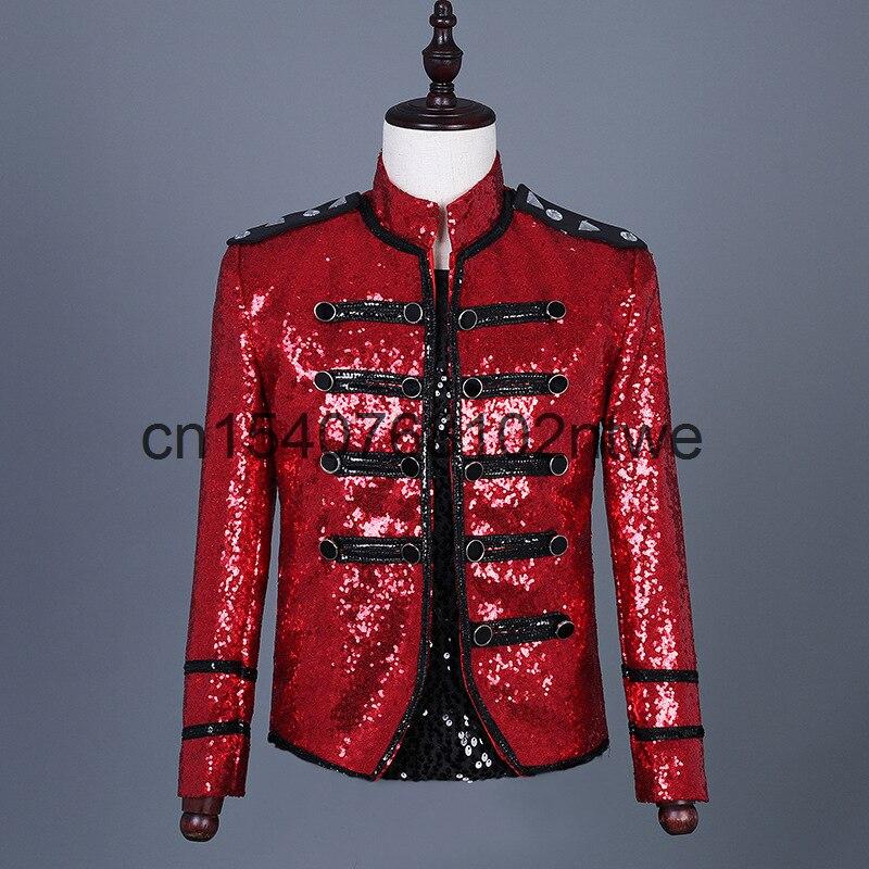 معطف جديد للرجال من الجلد والبانك باللون الأحمر موديل 2021