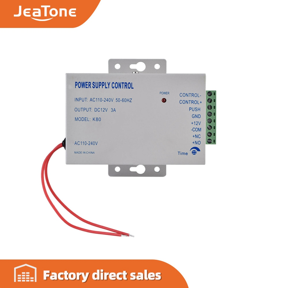 Фото - Jeatone Door Access System Electric Power Supply Control DC 12V 3A Miniature Power/Electric Lock Power/Access Control System power system