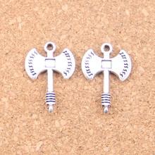 72pcs Charms ax axe 23x16mm Antique Pendants,Vintage Tibetan Silver Jewelry,DIY for bracelet necklace
