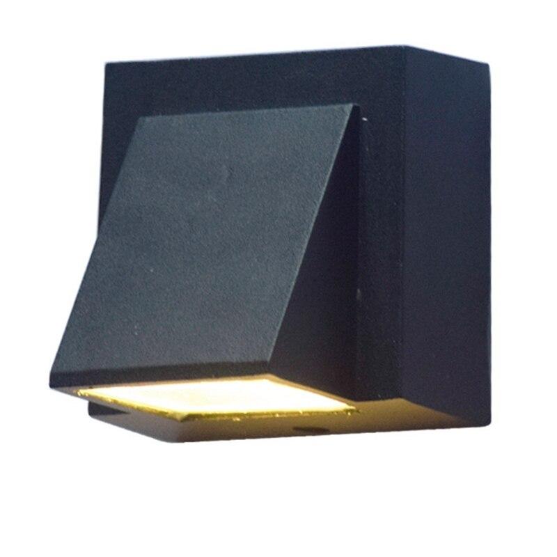 Современный минималистичный креативный уличный водонепроницаемый настенный светильник, уличный светодиодный садовый светильник для двер...
