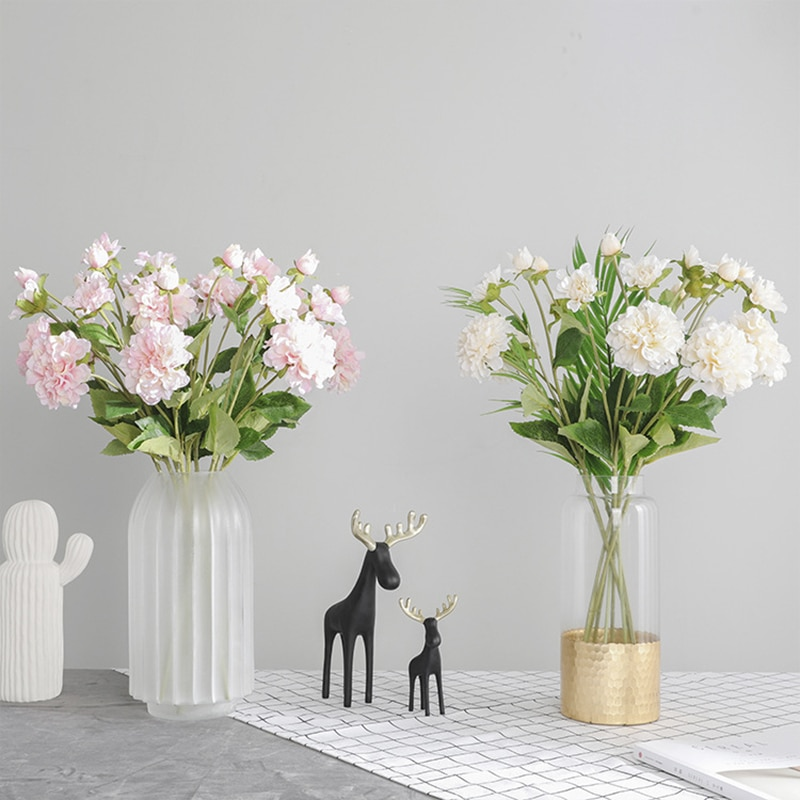 Artificial Chinese Herbaceous Peony Bouquet Silk Peony Peony Hand Flower Home Office Party Hotel Wedding Decoration Bouquet