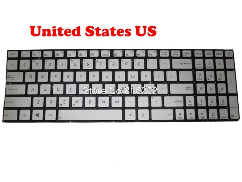 Teclado del ordenador portátil para ASUS Q501LA N541LA Q501 Q501L N541 N541L de plata sin marco nos 9Z.N8SBU.H01 0KN0-PX1US13 0KNB0-6627US00