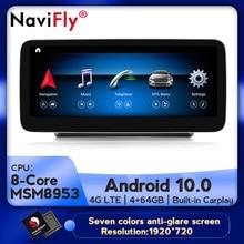 NaviFly Android 10 araba multimedya oynatıcı navigasyon GPS Benz C sınıfı için W205/GLC sınıf X253/V sınıf W446 2015-2018 NTG 5.0