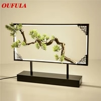 oufula table lamp desk resin modern contemporary office creative decoration bed led lamp for foyer living room bed room