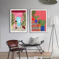 abstract cartagena life picture wall mream poster modern style canvas print painting art aisle living room unique decoration