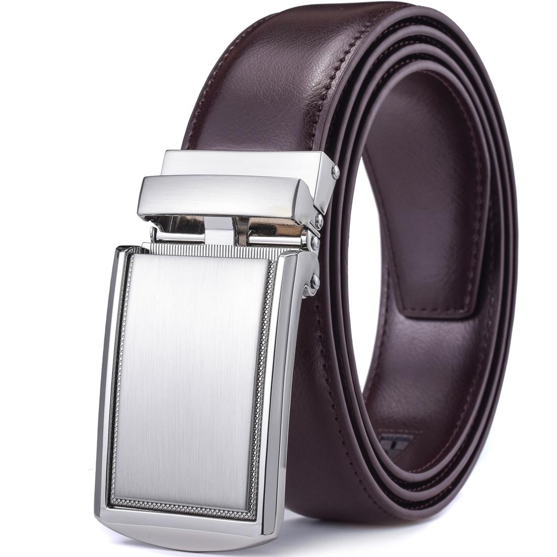 AliExpress - Men's Leather Ratchet Belt with Automatic Buckle 1 3/8 Wide Adjustable Dress