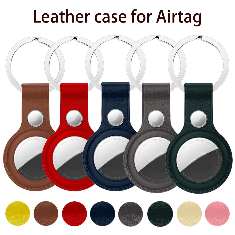 High quality Leather Case For Apple Airtags Protective cover For Apple Locator Tracker Anti-lost Dev