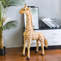giant size simulation giraffe plush toys cute stuffed animal soft real life tiger doll birthday gift for kids bedroom decor