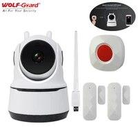 2In1 Wifi bebe moniteur intelligent camera video alarme 1080P HD 868MHz interphone controle domotique maison securite cambrioleur systeme