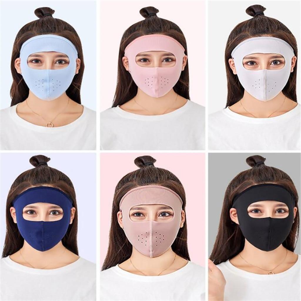 6 uds deportes de verano de Sol de protección UV Ultra delgada protector solar al aire libre de la cara llena máscara маска на лицо тканевая 2020 gran oferta de moda