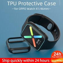 Soft TPU Protective Case for OPPO Watch 41/46mm Cover Bumper Lightweight Protector Shell for OPPO Wa