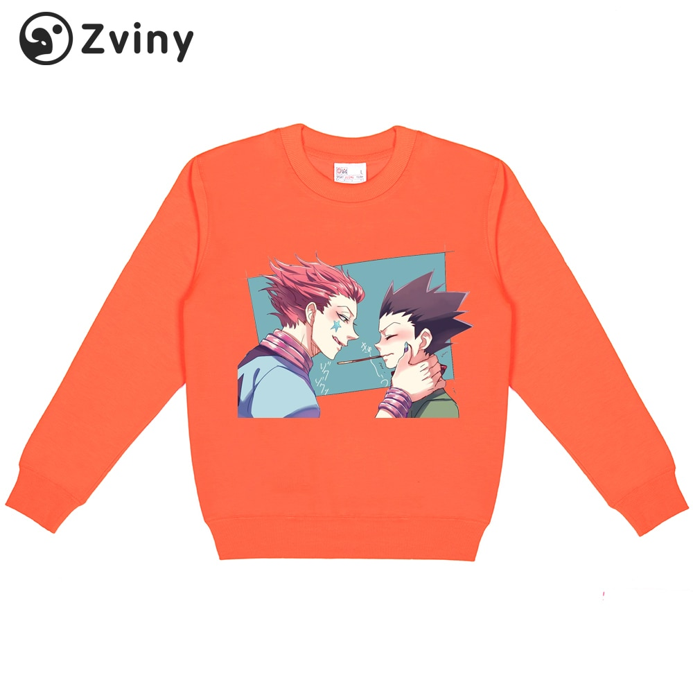 Zviny kawaii hoodies anime moda topos 2020 inverno japão estilo caçador x caçador hxh streetwear para mulher/homem pulôver de grandes dimensões