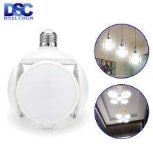 Светодиодный светильник E27 40 Вт для футбола НЛО лампа 360 градусов Складная Лампа AC 85-265 в 110 В 220 В лампада светодиодный светильник Холодный/теплый белый