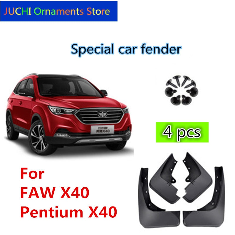 Guardabarros de coche guardabarros, guardabarros de guardabarros, accesorios para FAW X40, FAW Pentium X40