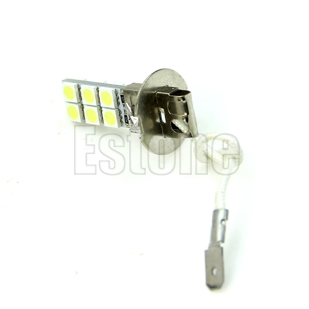 Lámpara LED H3, 12 LEDs, 5050, testa di SMD 12V bianco luminoso...