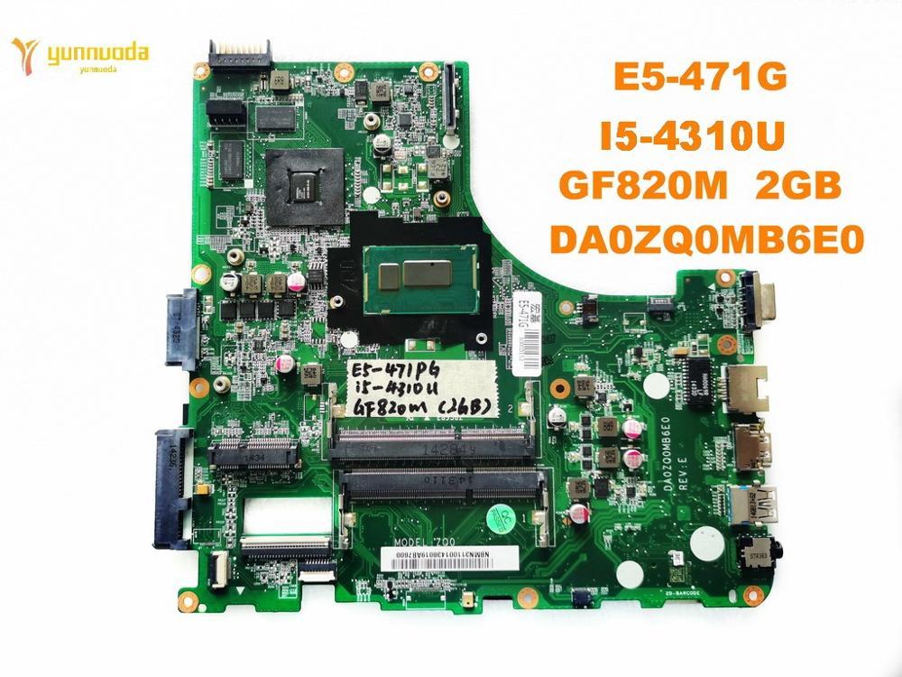 الأصلي لشركة أيسر E5-471G اللوحة المحمول E5-471G I5-4301U GF820M 2GB DA0ZQ0MB6E0 اختبار جيد شحن مجاني