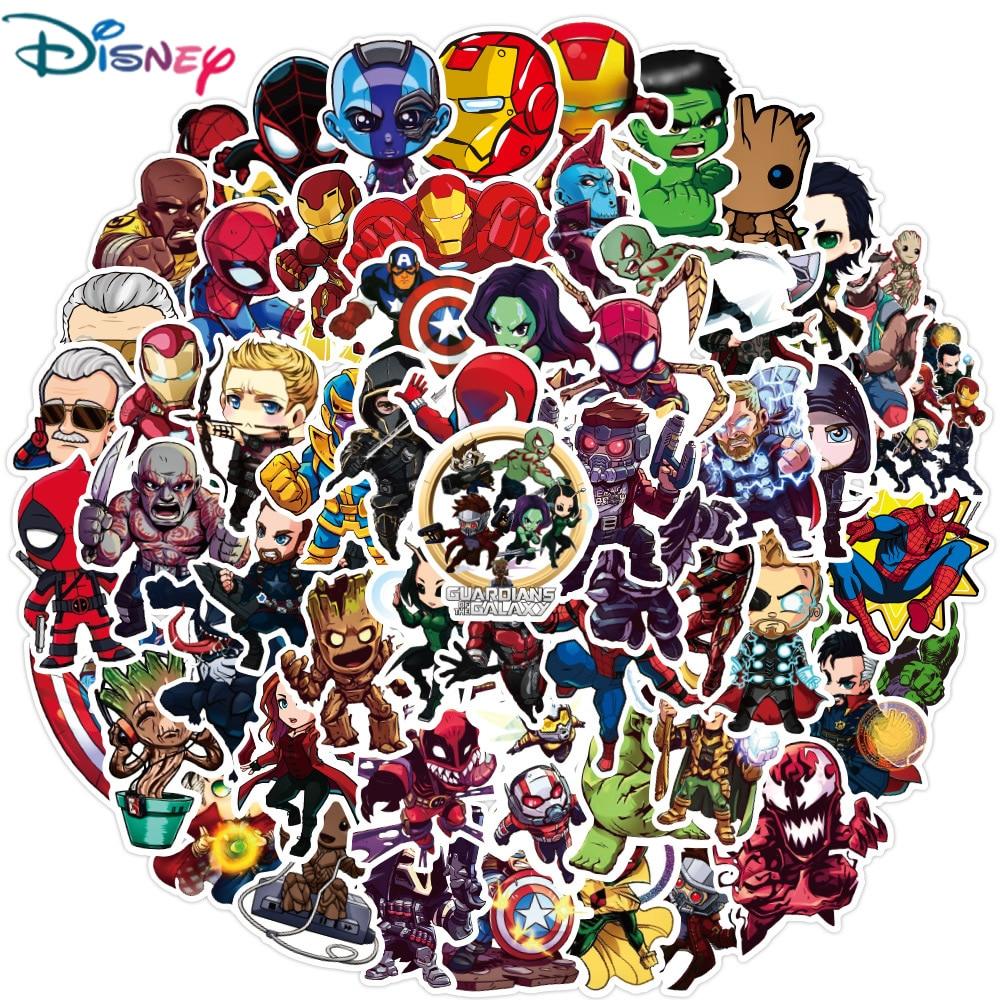 disney-10-30-50pcs-cartoon-marvel-stickers-the-avengers-adesivo-impermeabile-bagagli-skateboard-chitarra-laptop-cool-kid-stikers-toy