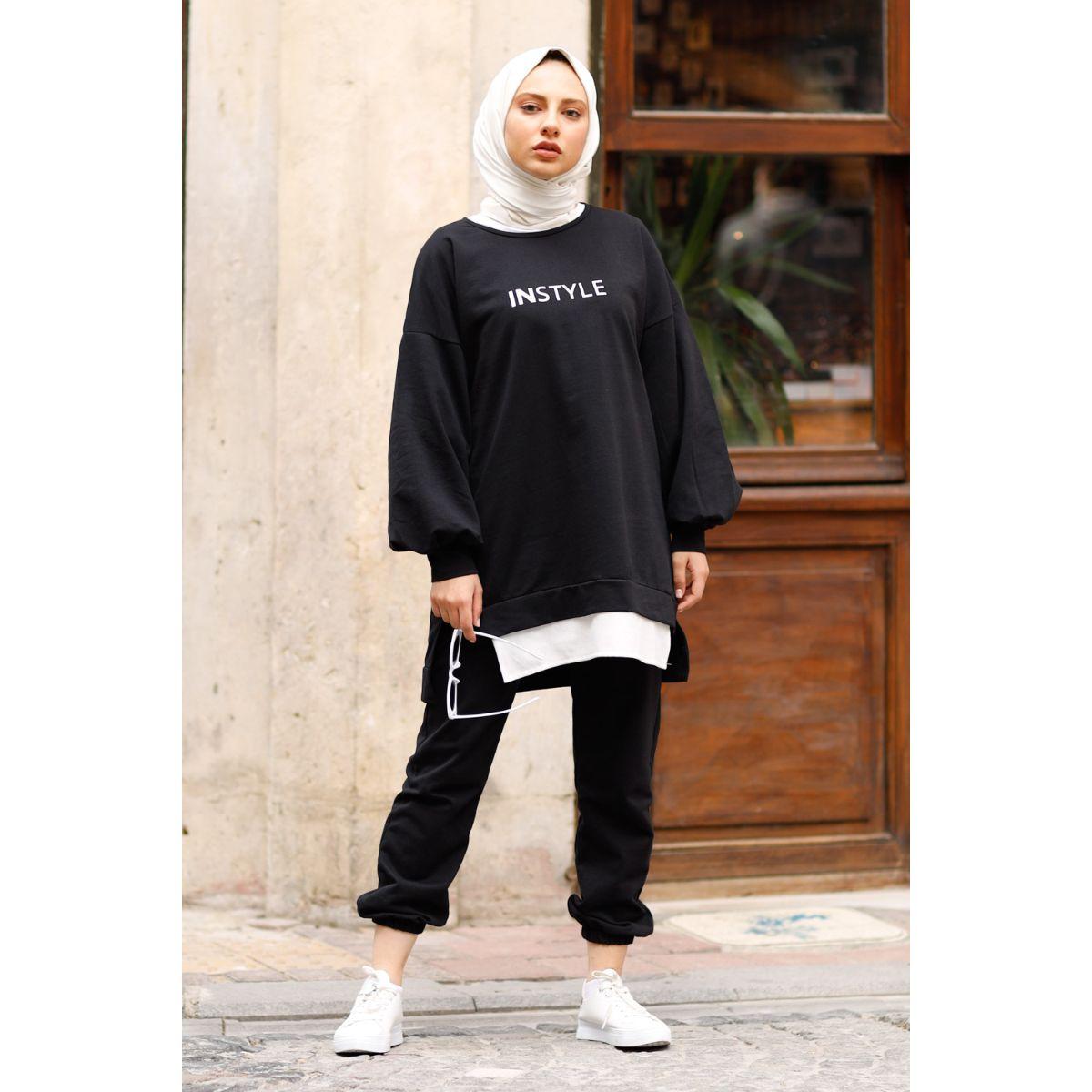 ريتشكيدا مخزن جديد 2021 مقنعين 2 قطعة الرياضة النسائية مجموعة قميص وبانت مزدوجة دعوى حجم كبير ملابس مسلمة الموضة الإسلامية