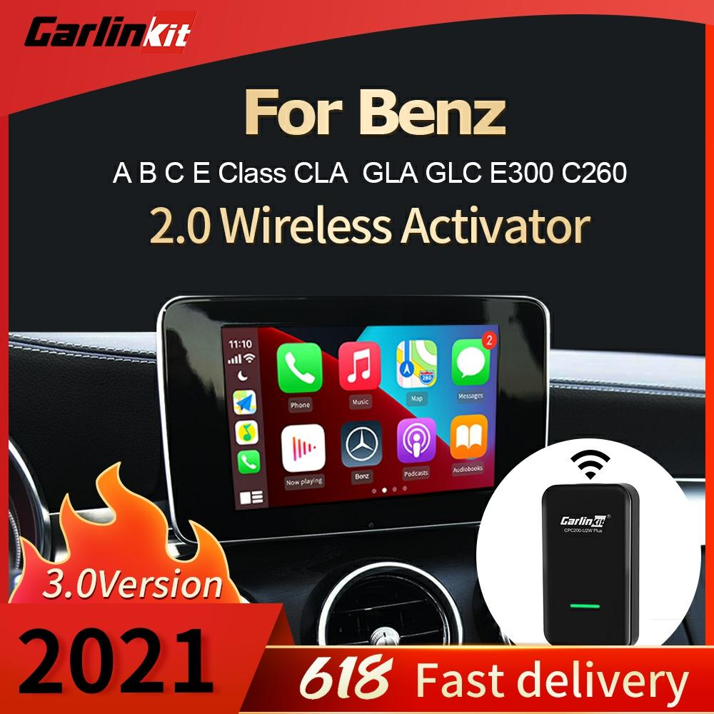 AliExpress - Carlinkit 3.0 New 2021 Apple Wireless Carplay Adapter Dongle Auto Connect For Benz Car Multimedia Player Plug And Play MP3 IOS14