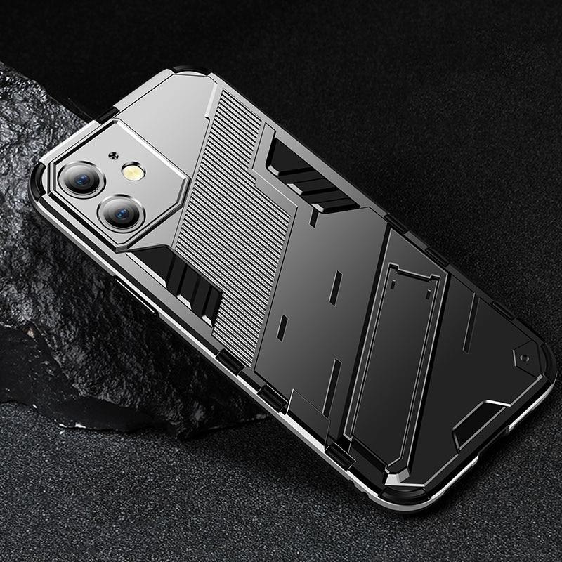Fashion Invisible Bracket Case For iPhone 13 12 11 Pro Max XR X XS 6 6S 7 8 Plus Mini Cover Fundas C