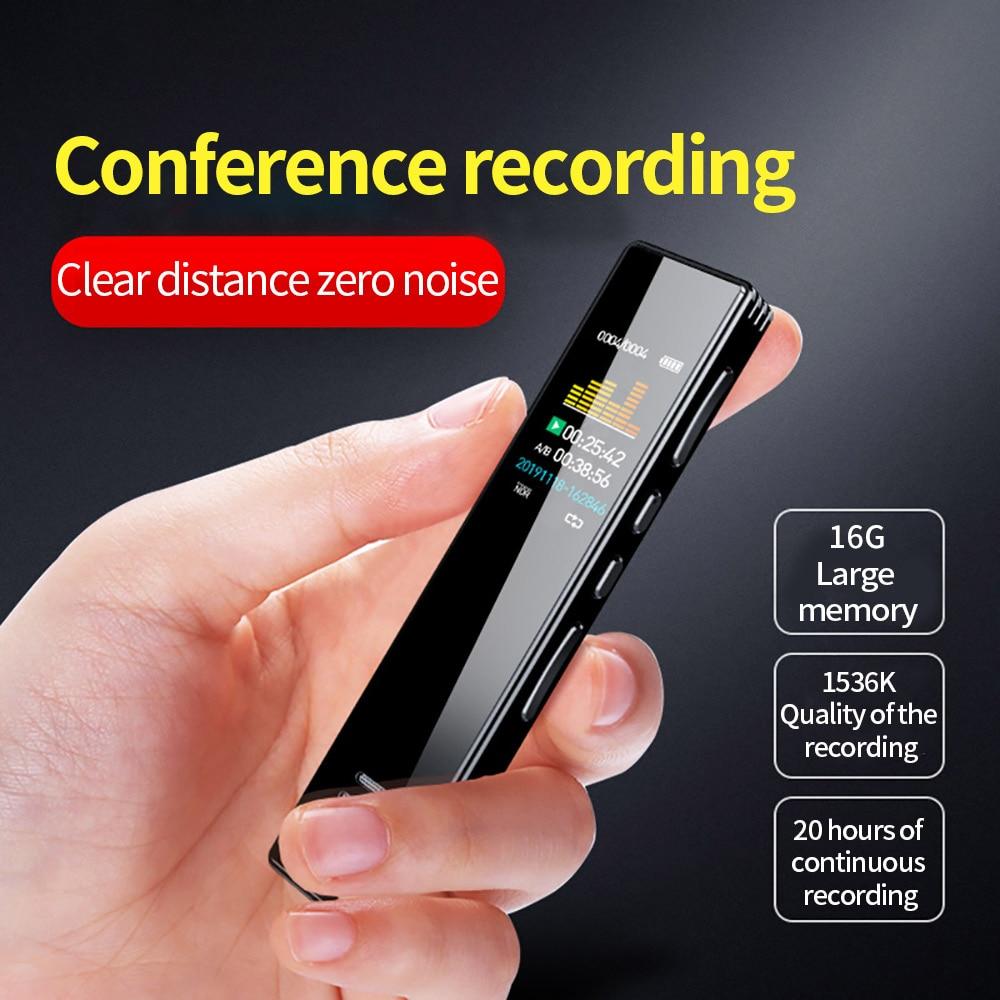 16gb Digital Voice Recorder Audio Recorder Intelligent Noise Reduction Three-Segment Sensitive Microphone Recorder 2020 NEW enlarge